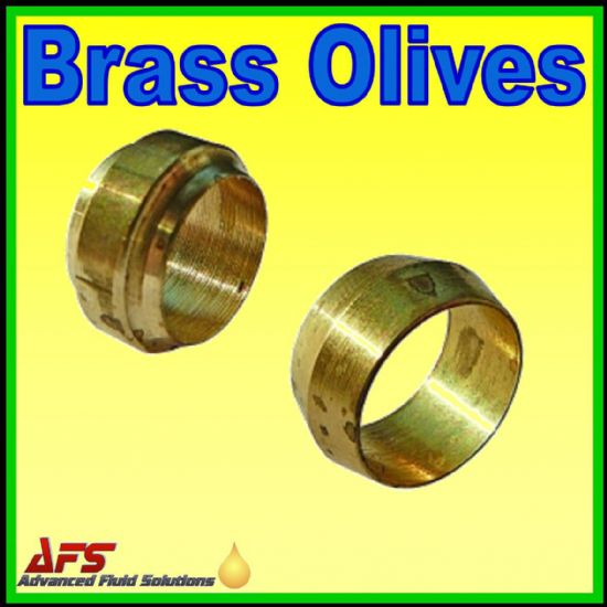 Metric Brass Olives / Cutting Ring - Stepped or Barrel